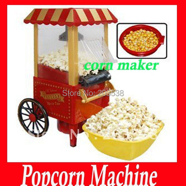 2014 christmas gift diy mini carriage shape nostalgic hot air popcorn machine poper pop corn. Black Bedroom Furniture Sets. Home Design Ideas