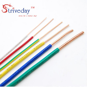 Image 2 - 5/10/50/100 Meters ZR BV 0.5mm Square Single core hard Wire Home Improvement Household Wiring Copper Electronic Wire Conductor