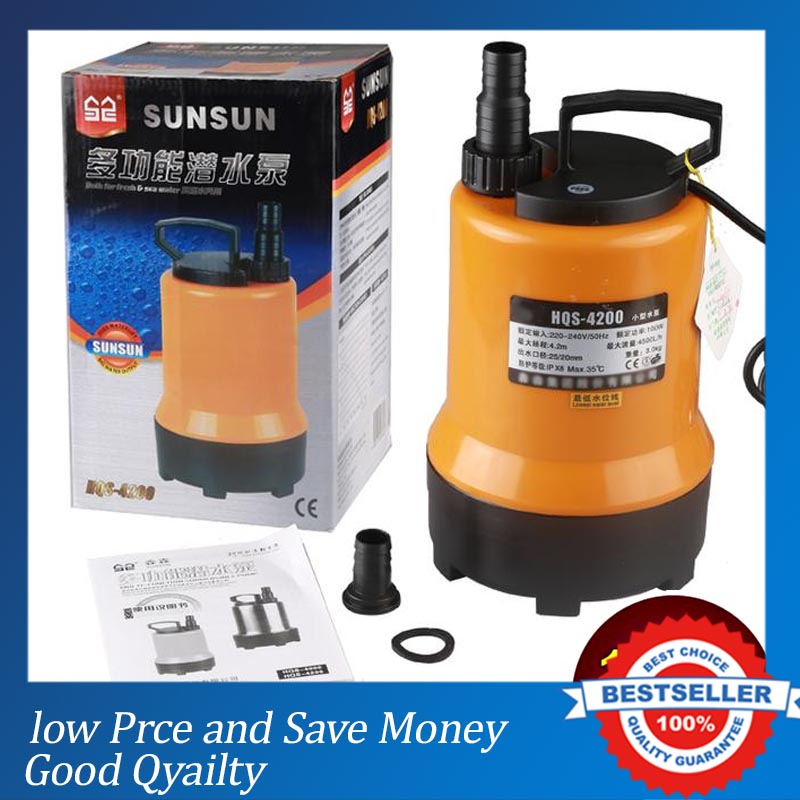 220V/50HZ Water Transfer Pump 4500L/H Electric Fish Submersible Pump цена и фото