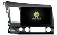 Navirider автомобильный dvd воспроизведение мультимедиа музыкальный плеер автомобиля Радио Аудио плеер android 8,1 gps для Honda Civic LHD с белым светом 10,1