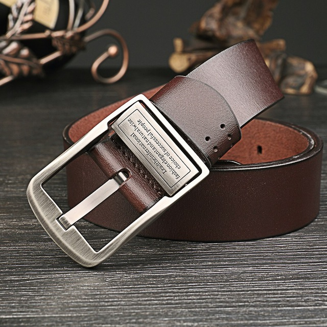 2017 New Fashion Genuine leather belt men Luxury belts male Wide men's straps for jeans High quality designer girdle for man