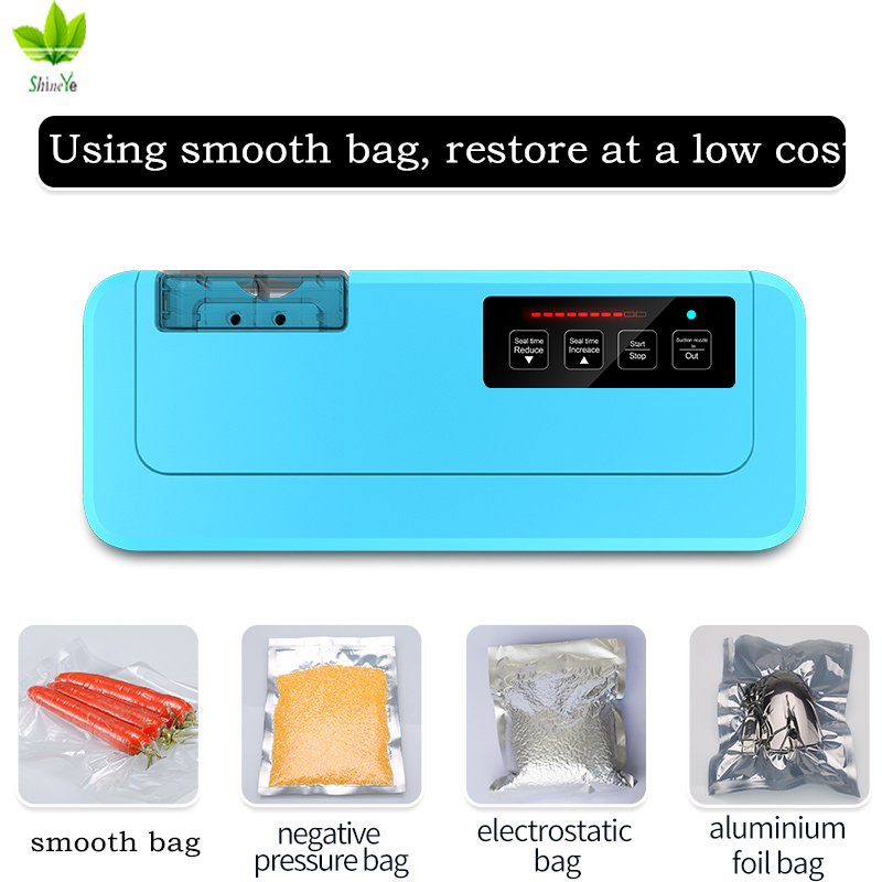 Fast Shipping 2018 New Household Vacuum Food Sealer Packaging Machine P-290 Vacuum Packer Give Free 10 Pcs Vacuum Bags
