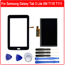 For Samsung Galaxy Tab 3 Lite SM T110 T111 7.0inch Touch Screen Digitizer + LCD Display Replacement Parts +Free Tools стоимость