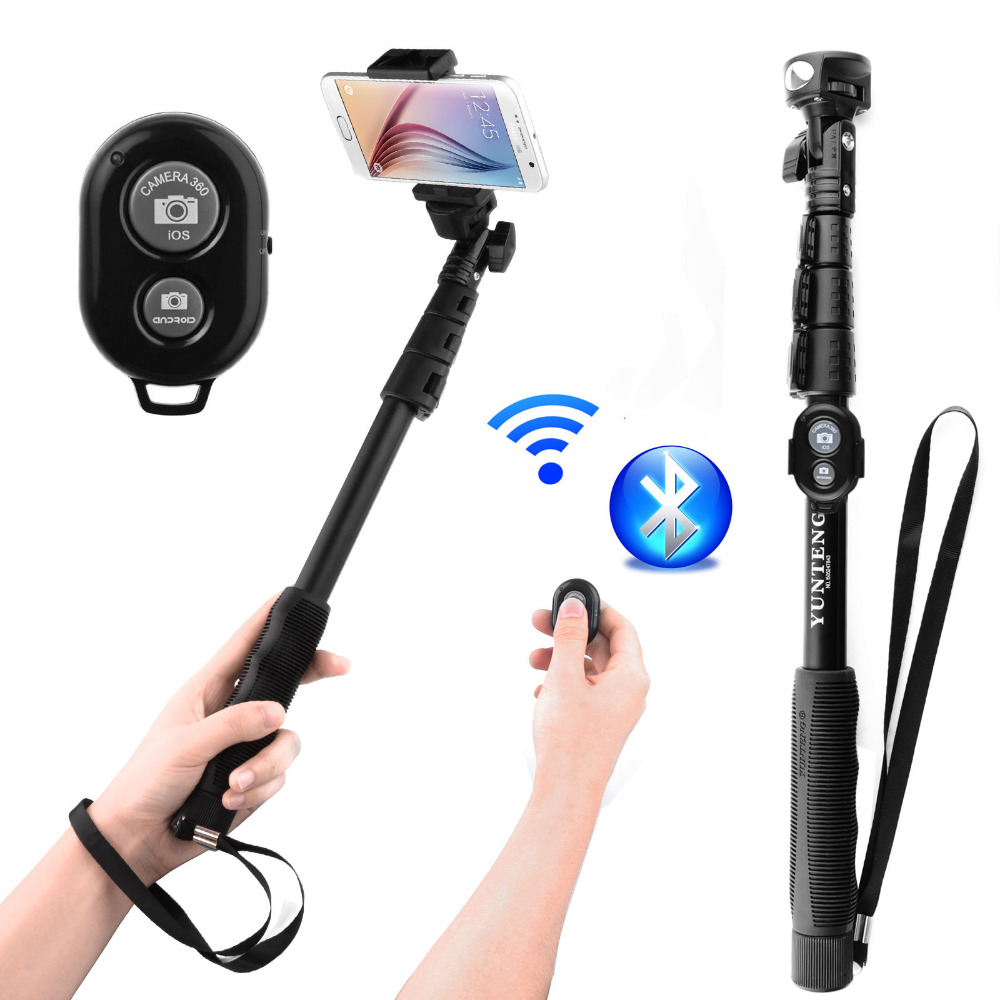 YunTeng 188 3 in 1 Bluetooth Extendable Monopod Selfie stick For iPhone Samsung  3