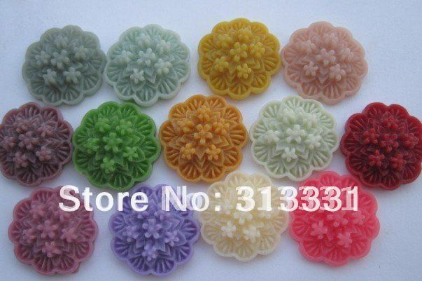 flatback flower cabochon resin flowers for DIY jewelry