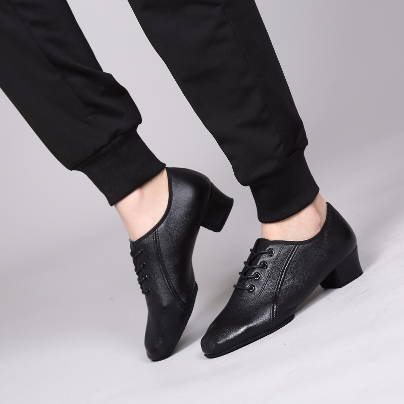 Sneakers Men Dancing Shoes Leather Latin Ballroom Dance Shoes Indoor Leather Shoes Sports Male Latin Boys Dancing Shoes Man