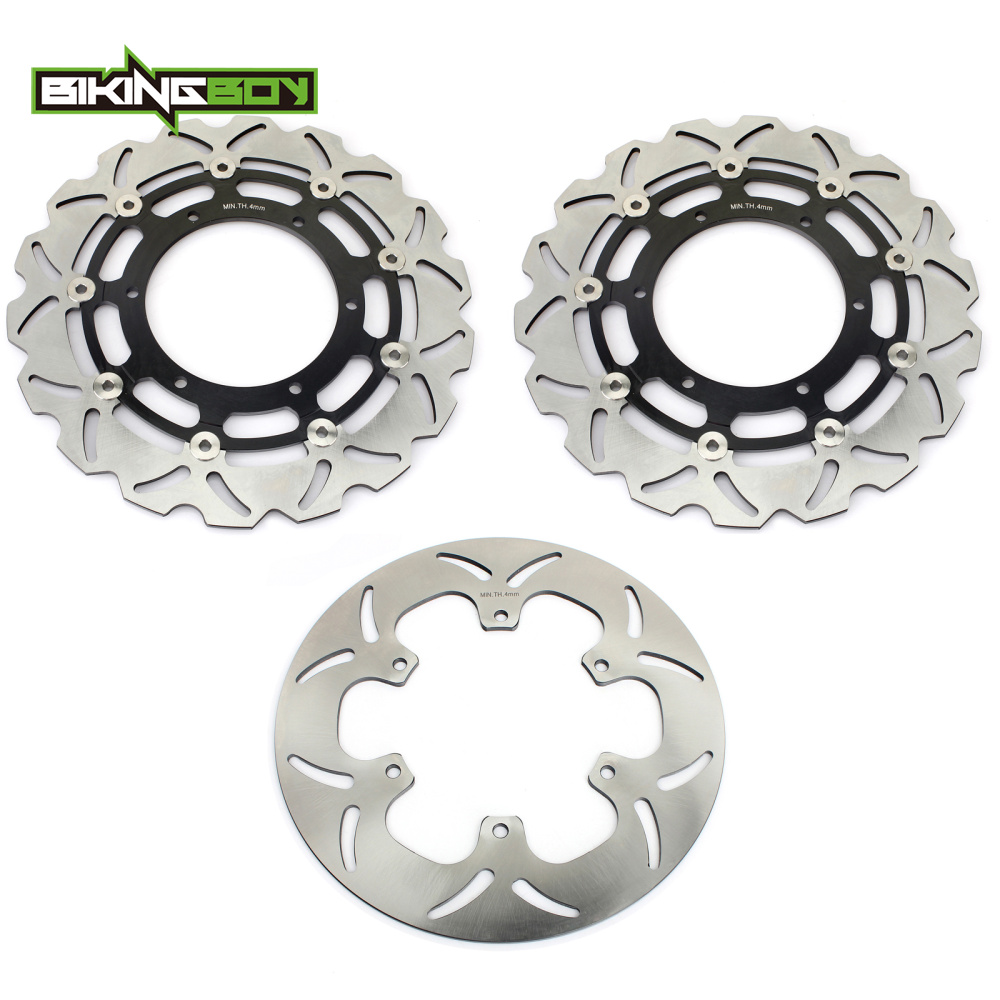 BIKINGBOY Front Rear Brake Discs Disks Rotors For YAMAHA FJR 1300 2004 2013 FJR1300 ABS 2003