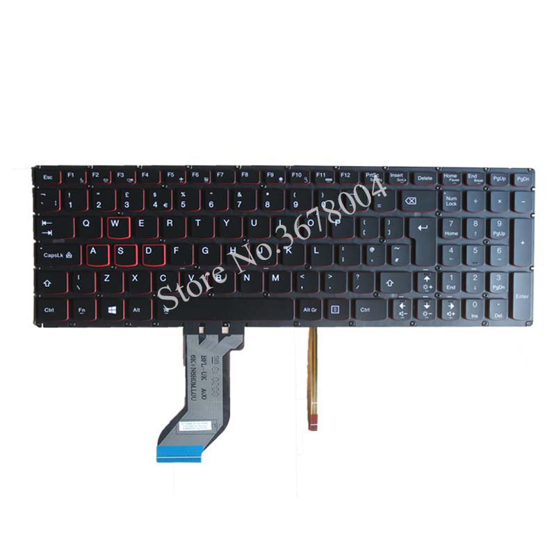 NEW for <font><b>Lenovo</b></font> ideapad <font><b>Y700</b></font> <font><b>Y700</b></font>-15ISK <font><b>Y700</b></font>-17ISK Backlit <font><b>laptop</b></font> Keyboard UK Without frame image