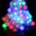 10 M 100 pcs LED Ball Luz Fada String Guirlanda Bola de Neve Peludos Edelweiss Natal Luzes Da Corda Ao Ar Livre Luz Do Jardim 220 V