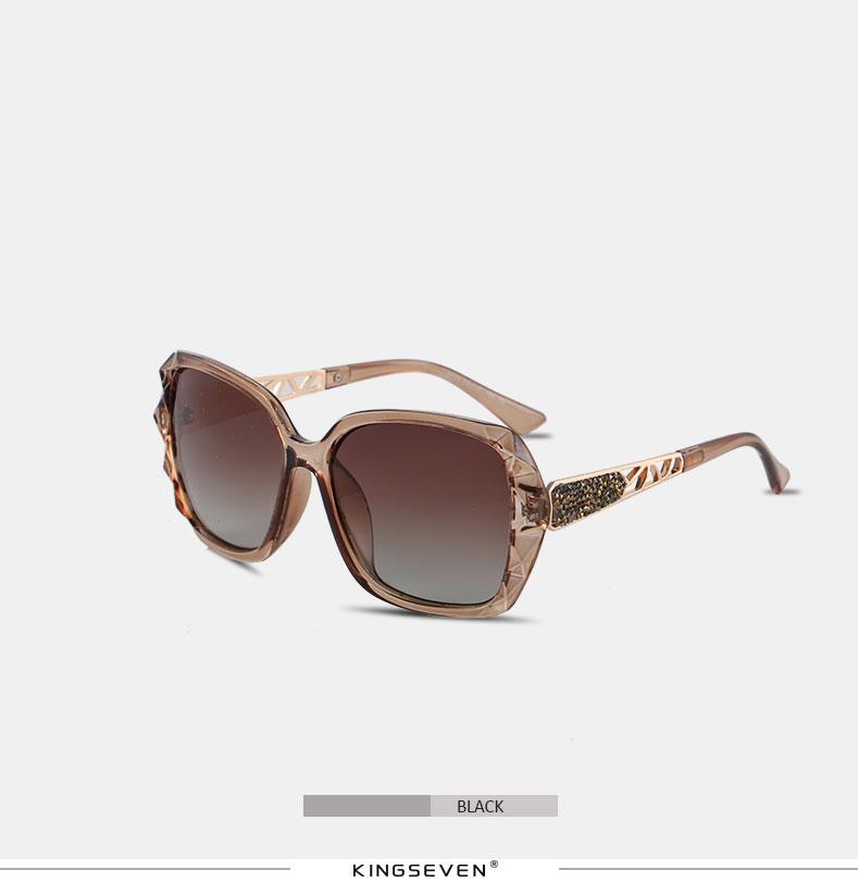 KINGSEVEN Sunglasses Women Gradient Polarized Diamond Frame Sun Glasses For Driving Luxury Lady Shades Eyewear Accessories 7538 6