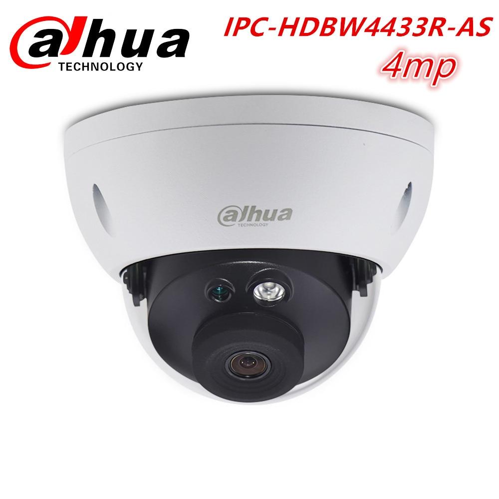 Dahua Chinese Original 4MP Security Camera CCTV Camara IPC-HDBW4433R-AS Network Dome IP6 POE SD Slot Audio Alarm IP Camera