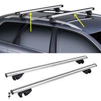 Для Toyota RAV-4 1996-2012 2 шт. серебристого сплава поперечный брусок багажник на крышу