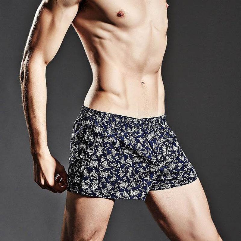 Brand Cotton Mens Pajamas Boxer Shorts Sexy Comfortable Casual Man Home Sleep Bottom U Convex Pouch Fashion Male Sleeping Shorts