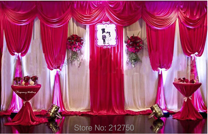 70 Colors For Choose 2014 New Wedding Ceremony Backdrop Curtains With Swags Stage Background Decoration