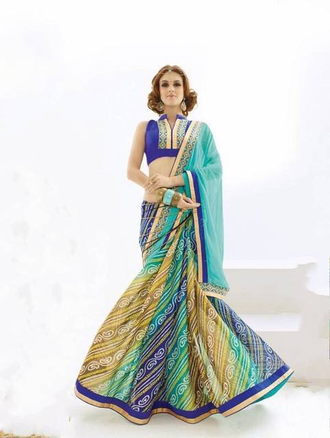 b2ea949d49 Navy Blue Sarees Georgette Print Indian women Sari Traditional Indian  Clothing with Blue Blouse Customized India Dress Saree