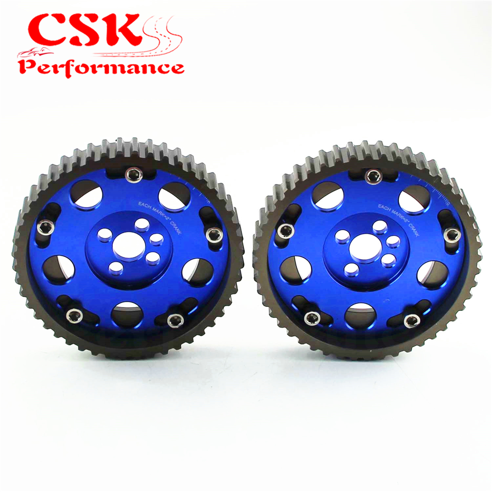 Slide CAM GEAR PULLEY Cam Pulley Set for CA18DE(T) CA18DE Nissan CA18DET Purple / Red / Blue