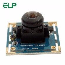 ELP HD 720 p OV9712 Mjpeg/YUY2 широкоугольный объектив usb камера с 170 градусов объектив uvc машинного зрения CMOS, usb камера модуль для Andriod
