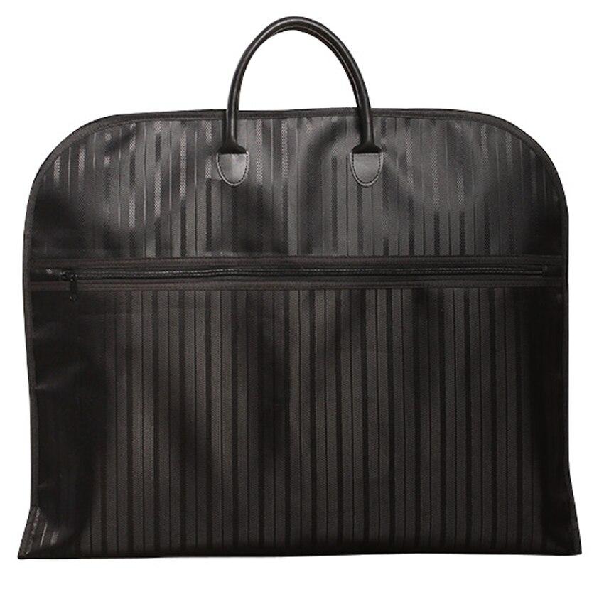 Dell'indumento di modo del sacchetto 600D telo Nero rosso oxford Business Sacchetto Impermeabile del Sacchetto del Vestito della banda Verticale uomini borsa da viaggio