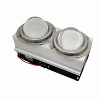 100W 200W High Power LED Heatsink cooling with fans 57mm /44mm / 67mm Lens +Reflector Bracket