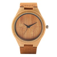 Relógio de pulso de bambu de bambu de bambu de bambu de bambu de bambu|Relógios de quartzo| |  -