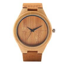 Unique Quartz Bamboo Men Women Watches Handmade Bamboo Watch