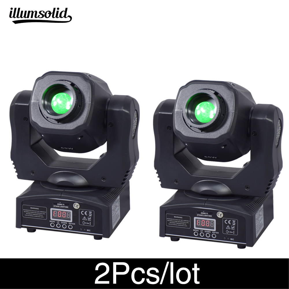 2 Pz/lotto di Alta Luminosità Moving Head Spot 60 W Ktv Dj Gobo Luce Spot Club Luce di Notte