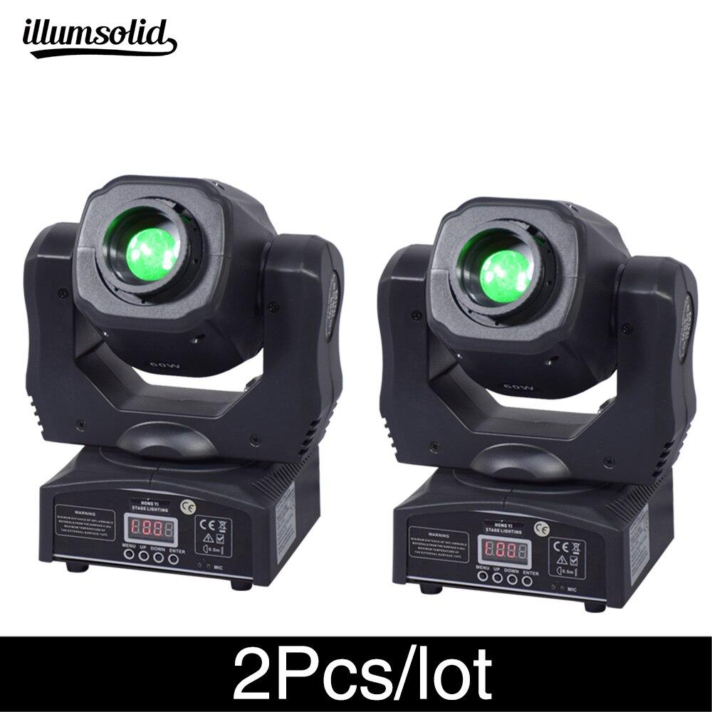 2 unids/lote luz de noche de club de luz de alto brillo con cabezal móvil 60w ktv dj gobo
