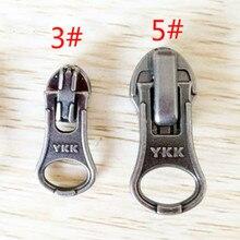 10 шт./партия YKK металлический слайдер для нейлона/катушки водонепроницаемый молния Замена Ремонт FIX Швейные аксессуары
