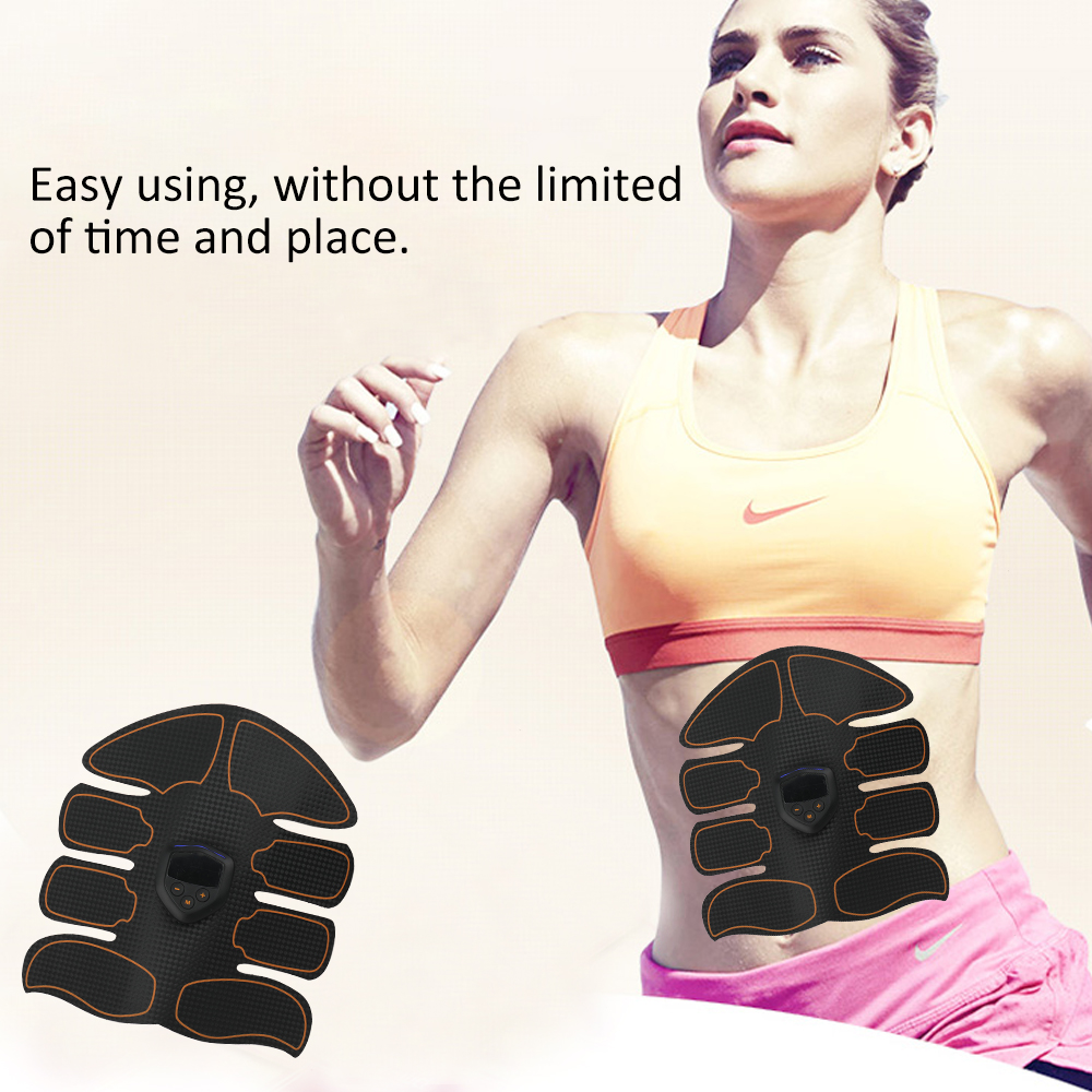 New Smart Ems Electric Massager Abdominal Muscle Trainer Usb Rechargeable Abs Trainer Fitness Weight Loss Body Slimming Massager