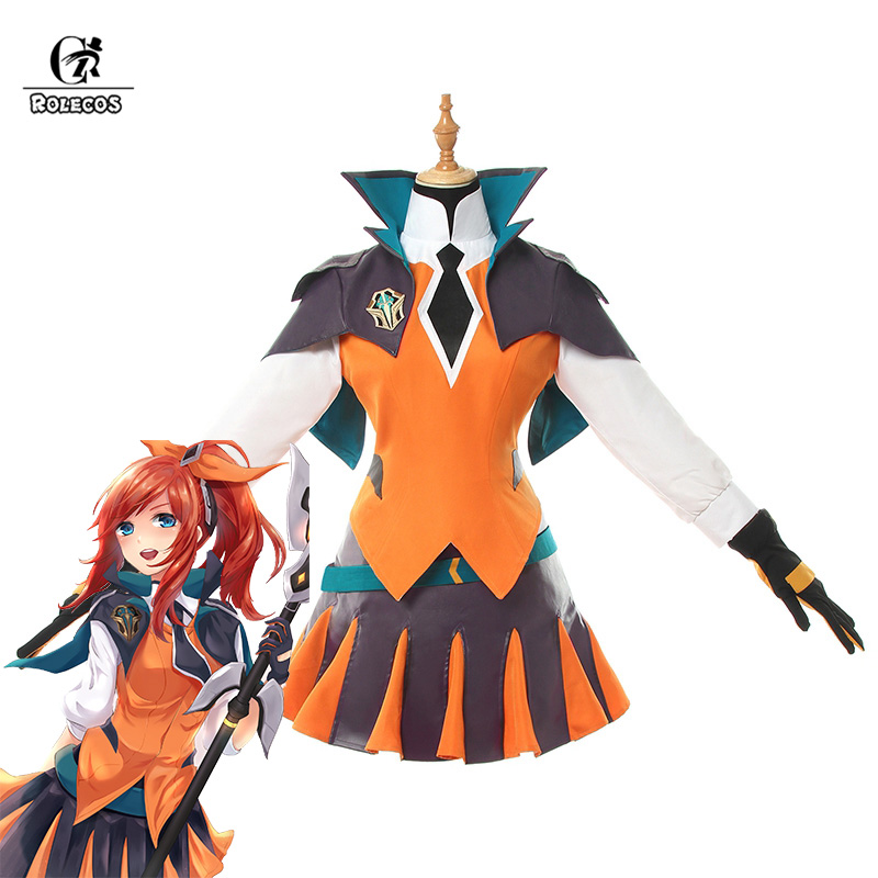 ROLECOS LOL Lux Cosplay Costume Battle Academia Lux Cosplay LOL Game Costume Women Outfit Full Sets