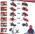 Marvel Super Heroes 6 Шт./компл. Venom Человек-Паук мотоцикл листовки Автомобиля Автомобиль Дети Кирпичное Здание Игрушки Совместимо с лепин