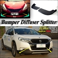 Car Splitter Diffuser Bumper Canard Lip For Citroen DS6 DS-6 DS6WR Tuning Body Kit / Deflector Car Fin Flap Chin Reduce Body