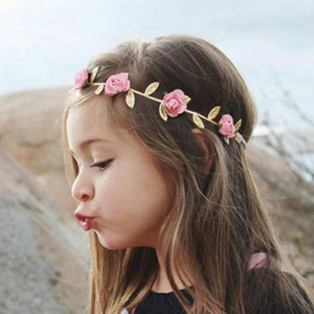 Wholesale 100Pcs Lot Flower Crown Head Accessories Hairband For Baby  Headband Summer Style Flower Headband for Baby Girl 3446ef1231c