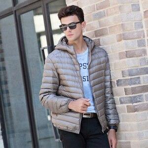 Image 5 - Airgracias 2017 Новое поступление белая утка Пух куртка Для мужчин осень зима теплое пальто Для мужчин свет тонкий утка пуховое пальто LM005