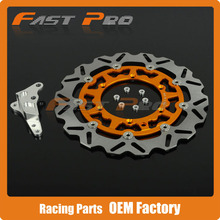 Wholesale prices 320 Floating Brake Disc + Bracket Fit For 4 Pot Caliper HF6 KTM SX XC XCW SXF XCF XCFW EXC 125-530 Supermoto Motard