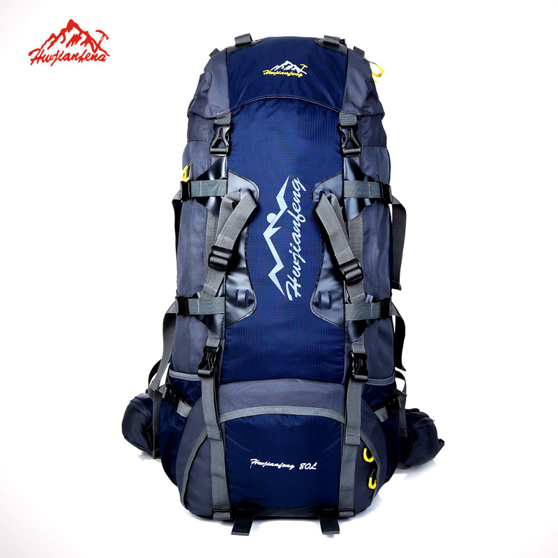 Large 80L Outdoor backpack Camping Travel Bag Professional Hiking Backpack Unisex Rucksacks sports bag Climbing package mountec large outdoor backpack travel multi purpose climbing backpacks hiking big capacity rucksacks sports bag 80l 36 20 80cm
