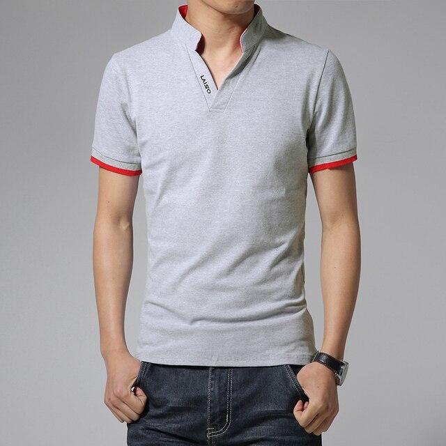 Venta caliente 2019 nueva moda de verano para hombre T camisetas de cuello  en V Slim 464fb40a331e7