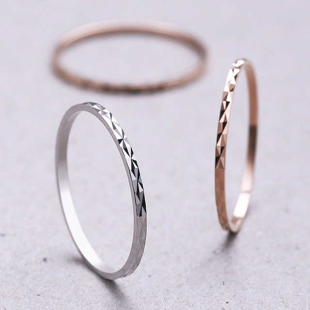 Simple 925 Sterling Silver Rings for Women Fashion Rhombus Pattern Slim Wedding Rings Lady Party Jewelry Finger Knuckles Rings 1