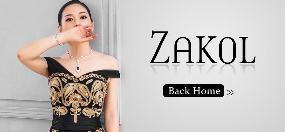 ZAKOL Мода розовое золото Цвет цветок обруч серьги кластера прозрачного хрусталя циркония серьги для Для женщин ювелирные Brincos FSEP609