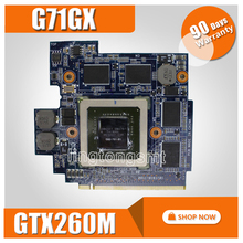 G71GX graphic card GTX260M For ASUS G72GX G51VX G61GX G71G Laptop motherboard G71GX graphic card test 100% OK