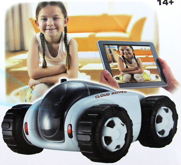 RC Car with Camera 4CH Wifi tank Cloud Rover Cloud Companion Real-Time Video Night Vision iOS Android PC Remote Control TOY FSWB