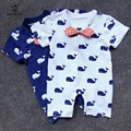 Summer Baby Boy Romper Short Sleeve Cotton Jumpsuit Baby Cartoon Animal Rompers Newborn Baby Boy Girl Clothes