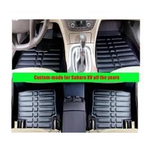 Pour Subaru XV tous les ans conduite à Gauche FLY5D Voiture Tapis De Sol Avant et Arrière Auto Poussière Étanche Tapis cuir XPF