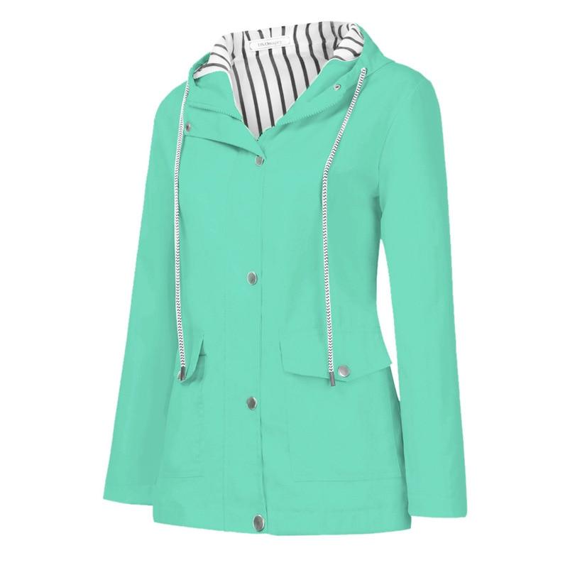Rain Coat Women Plus Size Coat 2018 Long Sleeve Waterproof Jacket Hooded Raincoat Jacket Women Clothes Warm Coat Girl #O11 (32)