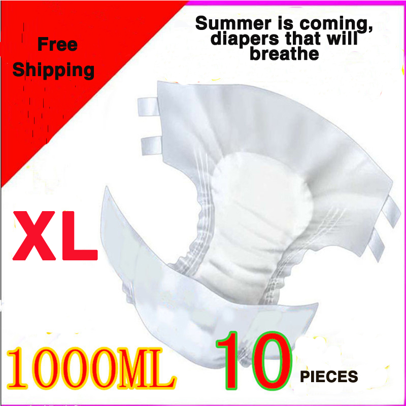 Adult Diaper XL 10pcs 1500ml Elderly Diapers Aged Care Mats Maternal Perinatal Pad Diapers Extra Large Summer Suitable