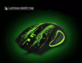 Wired USB Silent Gaming Mouse 5000 DPI 6 Button Ergonomic Magic Video Gamer Mice for Laptop - X9 5