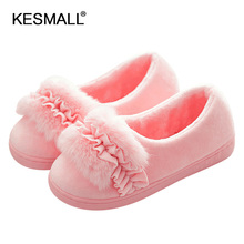shoes wome female thick Slipper winter indoor slippery home warm wool p