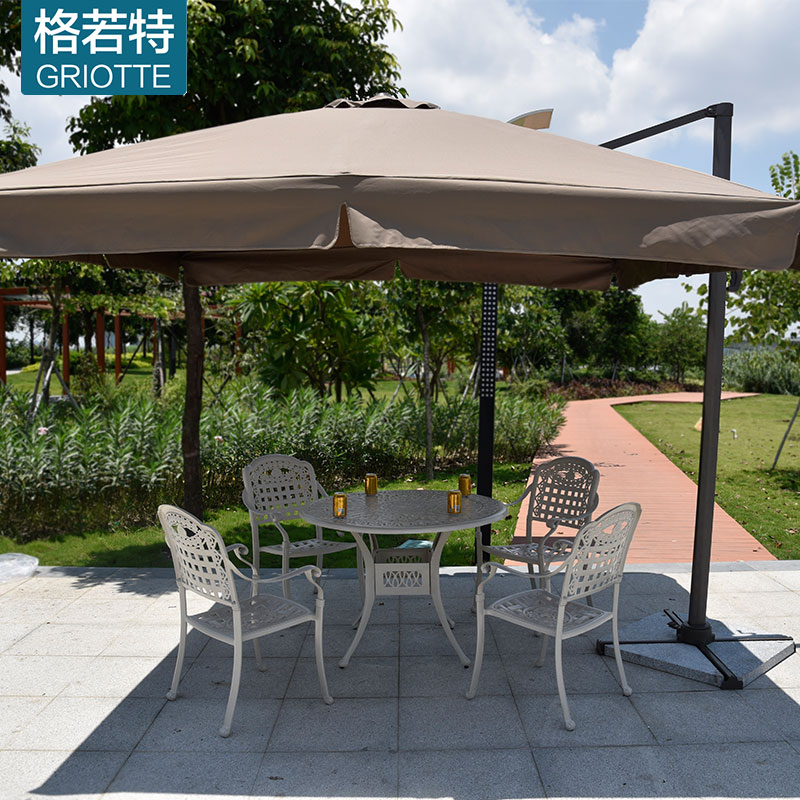 Security Guard Post Outside Outdoor Umbrellas Umbrella Roman Villa Balcony  Furniture Garden Patio In Patio Umbrellas U0026 Bases From Furniture On ...