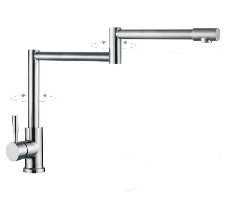 304 Stainless Steel Lead-free Kitchen Faucet Mixer Drinking Water Filter Tap purified Water Spout 301 free shipping soild brass lead free kitchen faucet mixer drinking water filter tap with filtered purified water spout wholesale