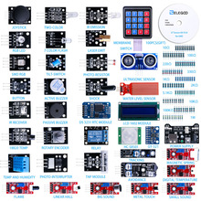 ELEGOO Arduino Uno Nano R3 Set Due Sensor Arduino Kit Modules Upgraded 37 in 1 Kit with Tutorial for Arduino MEGA 2560 Nano keyestudio w5100 ethernet щит для arduino uno r3 mega 2560
